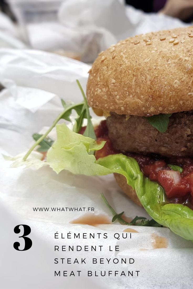 3 éléments qui rendent le steak Beyond Meat bluffant