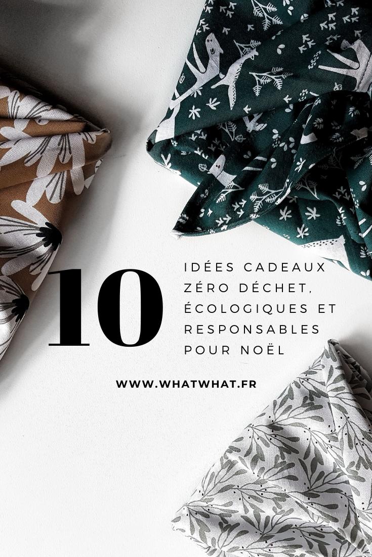 10 idées cadeaux zéro déchet, écologiques et éthiques