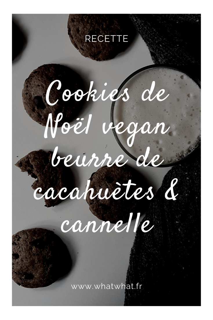 Cookies vegan de Noël au beurre de cacahuètes et à la cannelle