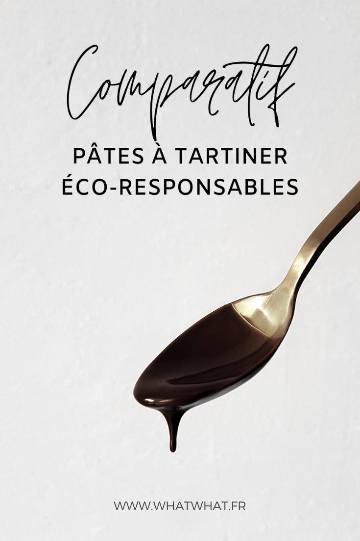 Pâtes à tartiner éco-responsable : mon comparatif