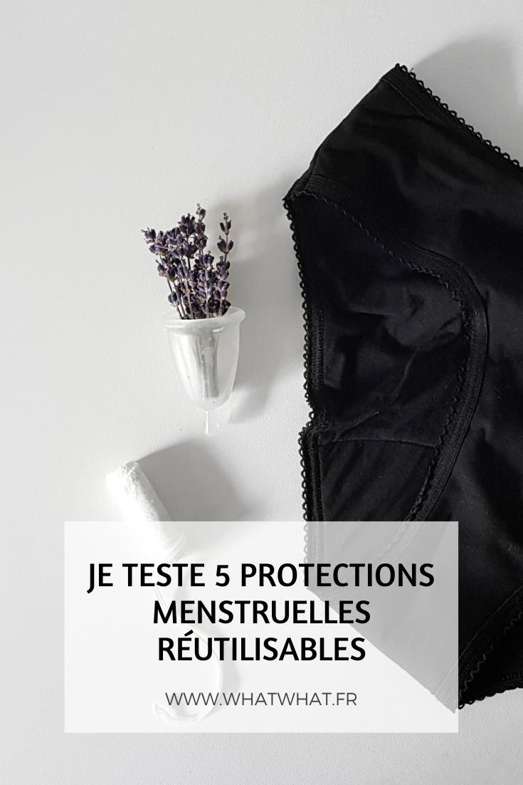Je teste 5 protections menstruelles réutilisables