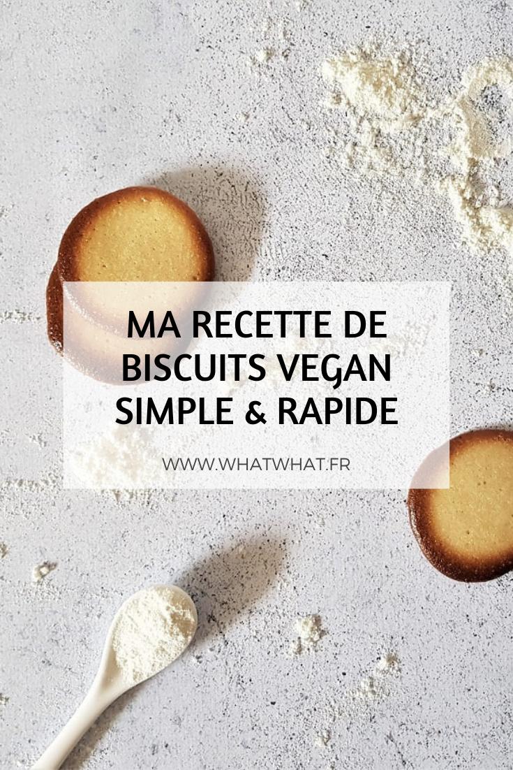 Ma recette de biscuits vegan simple et rapide