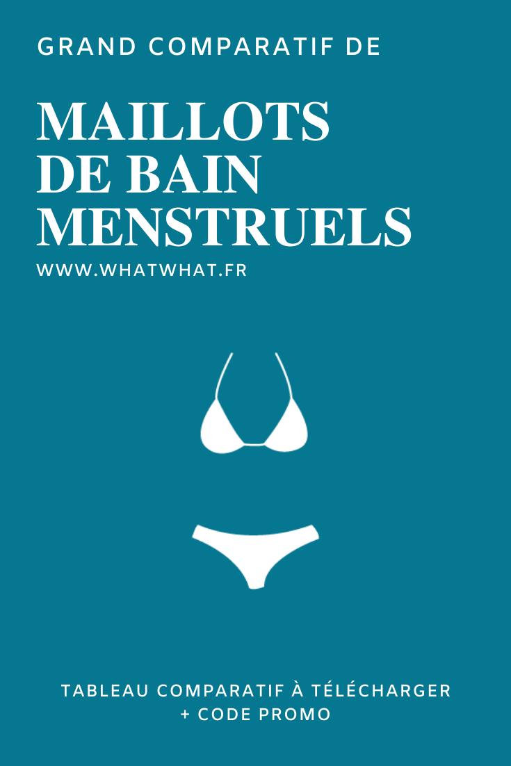 Le grand comparatif de maillots de bain menstruels